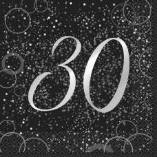 Sølv servietter 30 år 16 stk