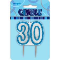 30 år kakelys blå