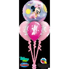 Baby Minnie med 3 latexballonger