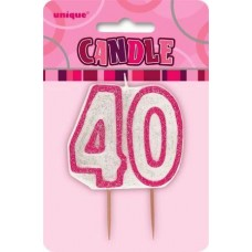 40 år kakelys rosa