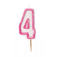 4 år kakelys rosa