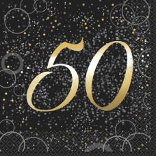 Gull servietter 50 år 16 stk
