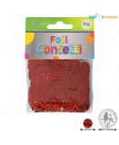 Confetti holographic rød folie 10mm