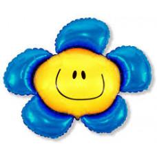 Blomst blå 35cm